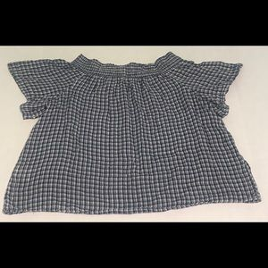 RALPH LAUREN Denim & Supply Smocked Top Size L